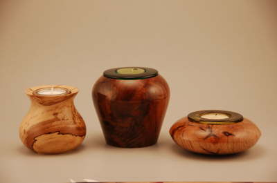 Pecan, Walnut & Oak Tea Candle Holders