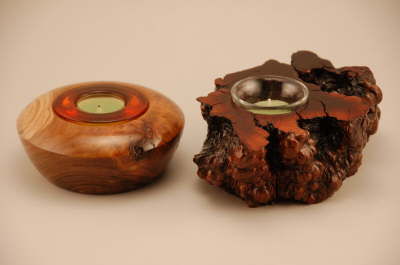 Redbud & Unknown Root Candle Holders